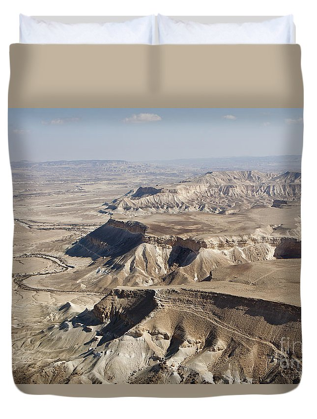 Aerial View Duvet Cover featuring the photograph 1-aerial Photography Of The Negev by Nir Ben-Yosef