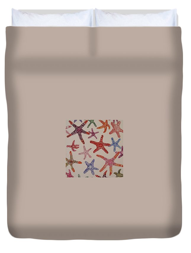 Star Fish Duvet Cover featuring the photograph Aleera Star by Cheryl Miller