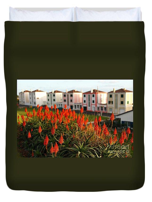 Aloe Duvet Cover featuring the photograph Aloe Flowers by Gaspar Avila