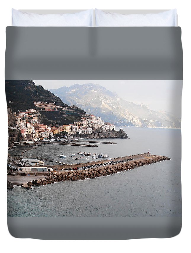 Amalfi Duvet Cover featuring the photograph Amalfi Italy by Bill Cannon