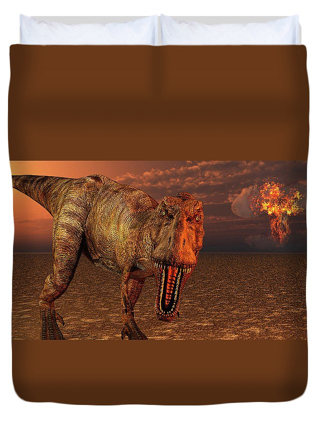Horizontal Duvet Cover featuring the photograph An Asteroid Hitting The Earth, Marking by Mark Stevenson
