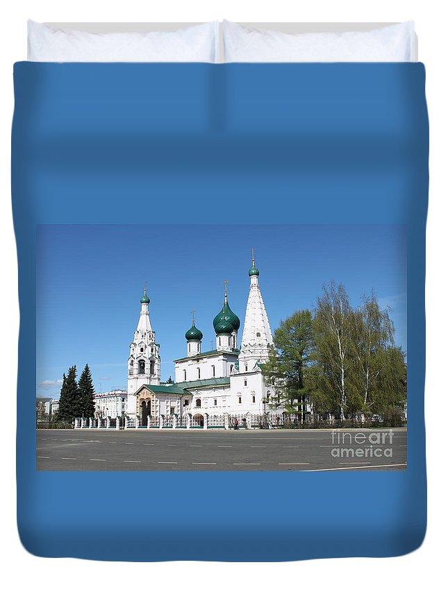 Church Duvet Cover featuring the photograph Ancient Church by Evgeny Pisarev
