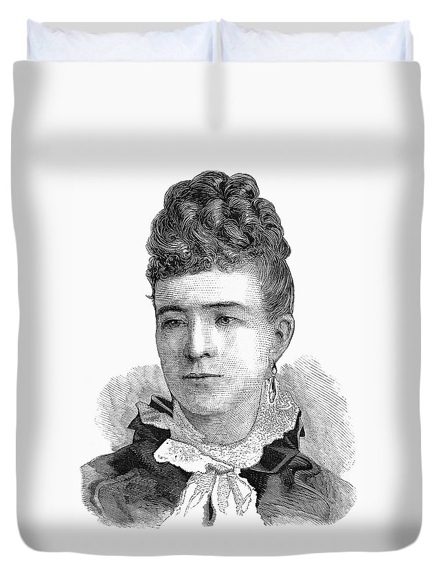 1874 Duvet Cover featuring the painting Ann Eliza Young (1844-1925) by Granger