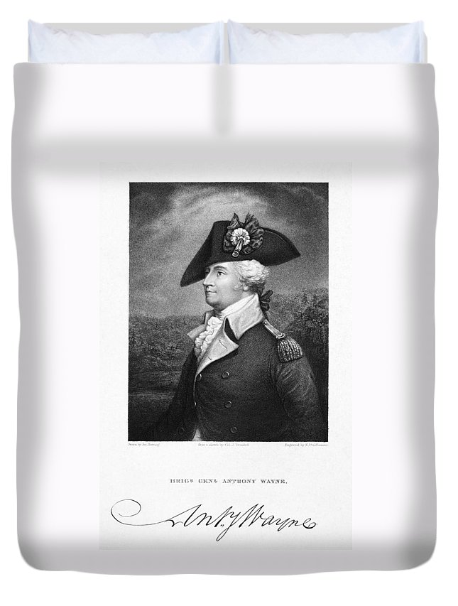 18th Century Duvet Cover featuring the photograph Anthony Wayne (1745-1796) by Granger