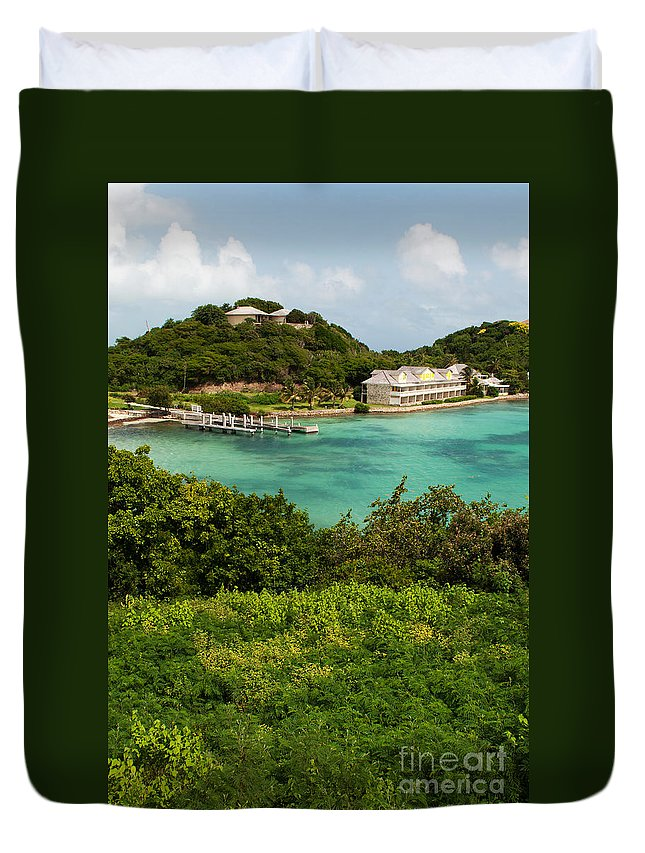 Antigua Duvet Cover featuring the photograph Antigua Long Bay by Luis Alvarenga
