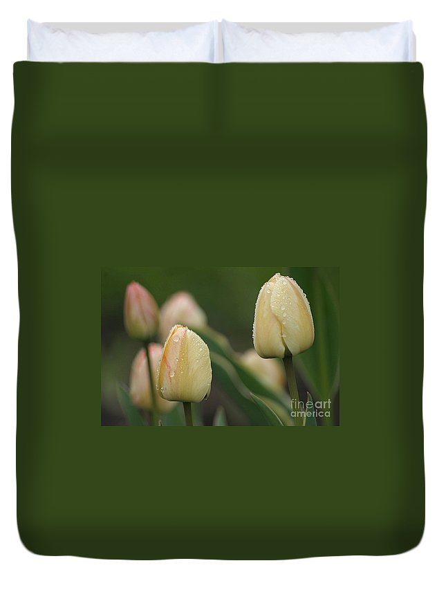 Tulips Duvet Cover featuring the photograph April Showers by Living Color Photography Lorraine Lynch