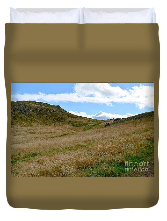 Arthur's Seat Duvet Cover featuring the photograph Archer's Seat by DejaVu Designs