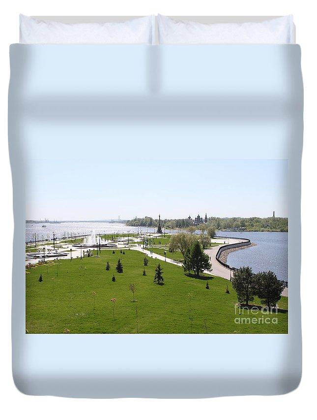 Volga Duvet Cover featuring the photograph Arrow by Evgeny Pisarev