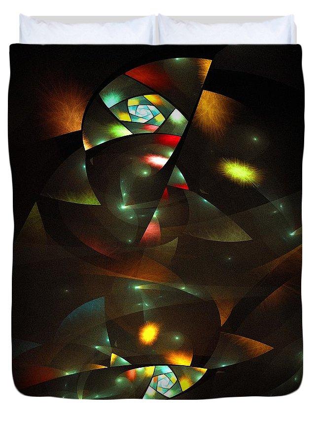 Art Deco Feeling Duvet Cover featuring the digital art Art Deco Feeling by Klara Acel