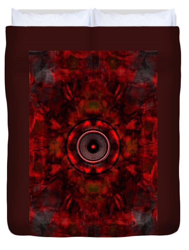 Audio Duvet Cover featuring the digital art Audio Kaleidoscope by Steve Ball