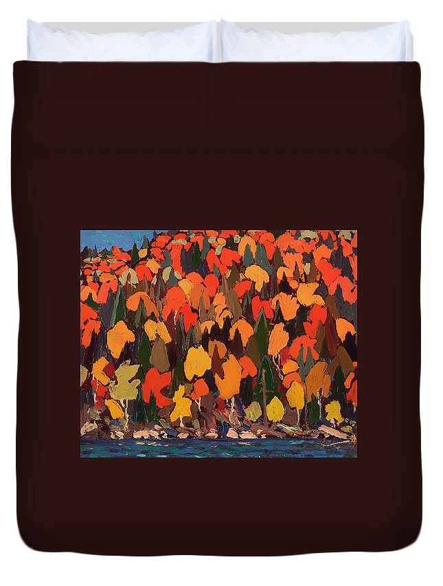 Painting Duvet Cover featuring the painting Autumn Foliage by Mountain Dreams