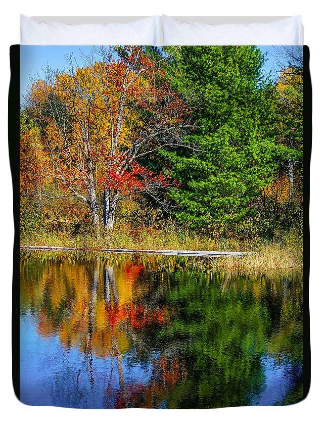 Steve Harrington Duvet Cover featuring the photograph Autumn Lake by Steve Harrington
