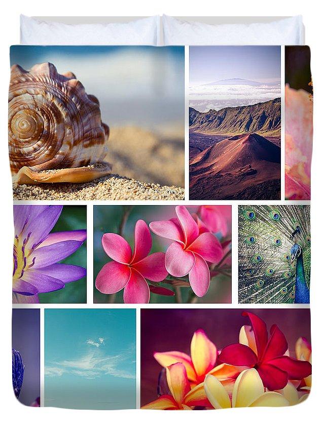 Awakening In Paradise Duvet Cover featuring the photograph Awakening In Paradise by Sharon Mau