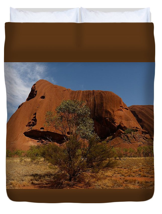 Ayers-rock Duvet Cover featuring the photograph Ayers Rock by FL collection