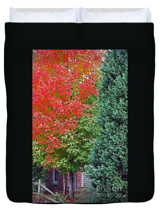 Nature Duvet Cover featuring the photograph Back Door by Skip Willits