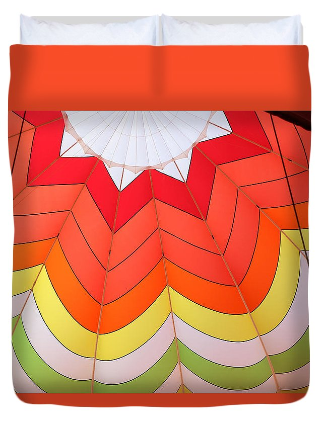 Colors Duvet Cover featuring the photograph Balloon Fantasy 15 by Allen Beatty