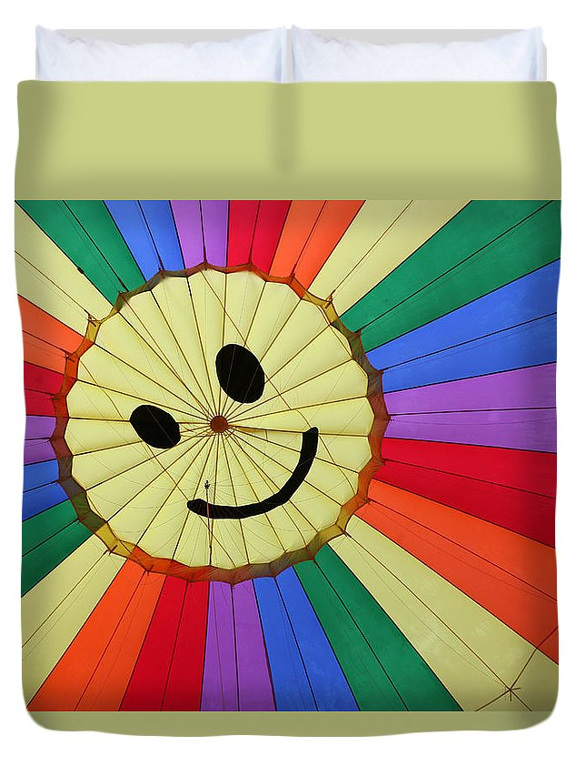 Colors Duvet Cover featuring the photograph Balloon Fantasy 17 by Allen Beatty