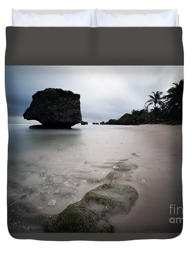 Landscape Duvet Cover featuring the photograph Bathsheba Beach Barbados by Matteo Colombo