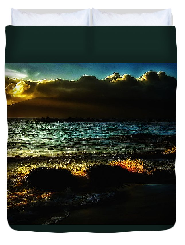 America Duvet Cover featuring the photograph Beach 2 by Ingrid Smith-Johnsen