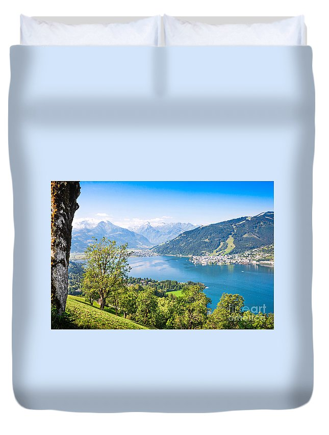 Alpine Duvet Cover featuring the photograph Beautiful Austria by JR Photography
