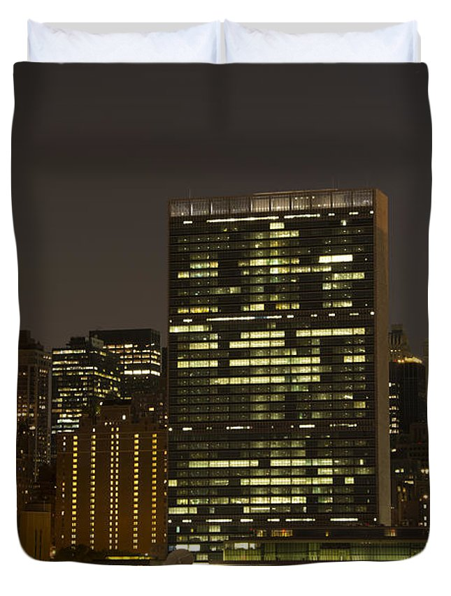 Citicorp Duvet Cover featuring the photograph Beauty Of The Night by Theodore Jones