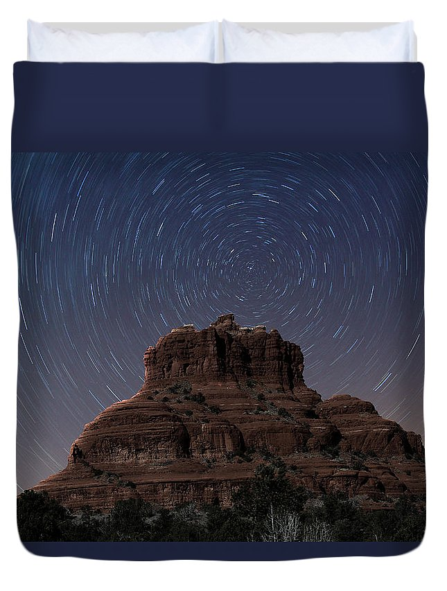 Sedona Duvet Cover featuring the photograph Bell Rock by Paul Fell