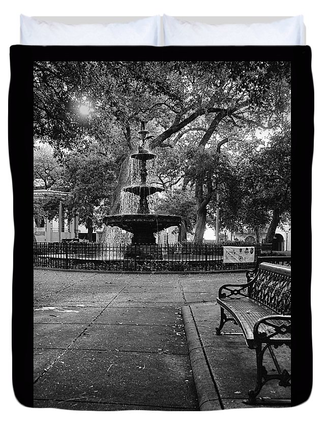 Alabama Duvet Cover featuring the digital art Bienville Square by Michael Thomas