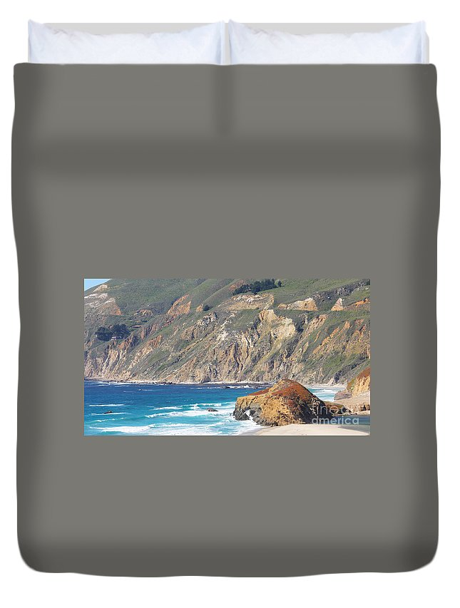 Big Sur Duvet Cover featuring the photograph Big Sur Coastline by Jack Schultz