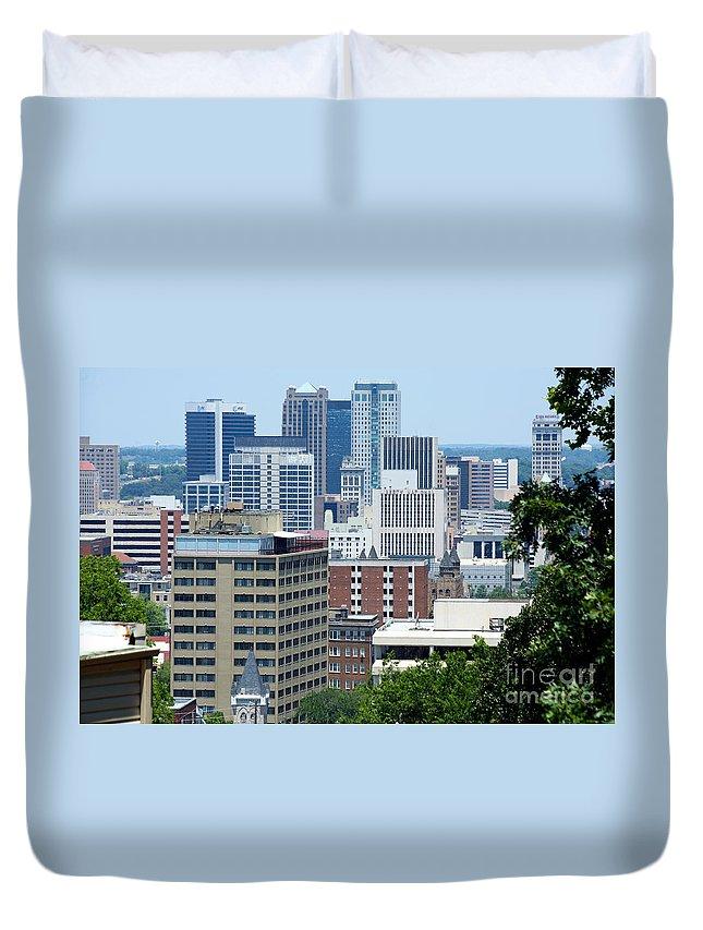 Regions Center Duvet Cover featuring the photograph Birmingham by Bill Cobb
