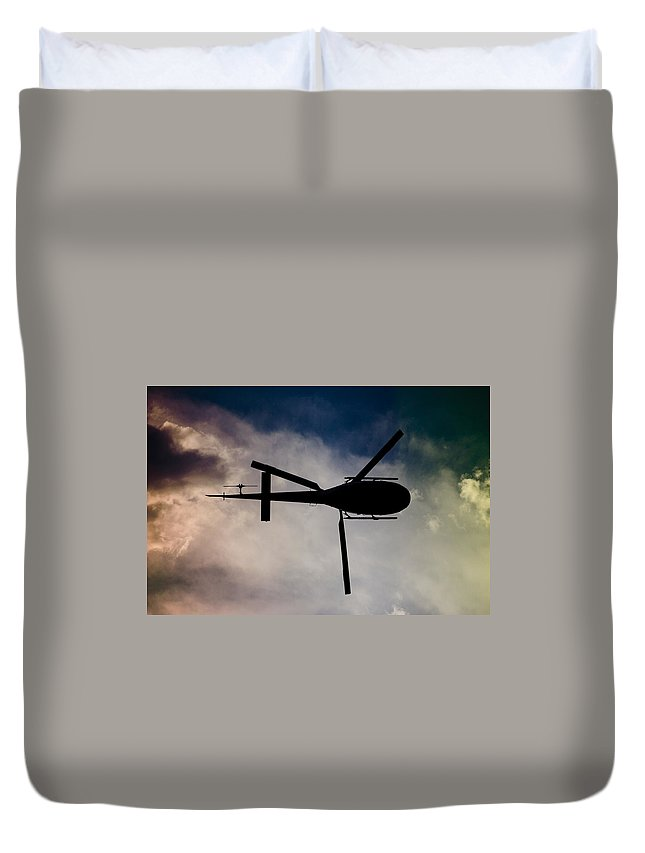 Eurocopter As350 B3 Ecureuil (squirrel) Duvet Cover featuring the photograph Blade Runner by Paul Job