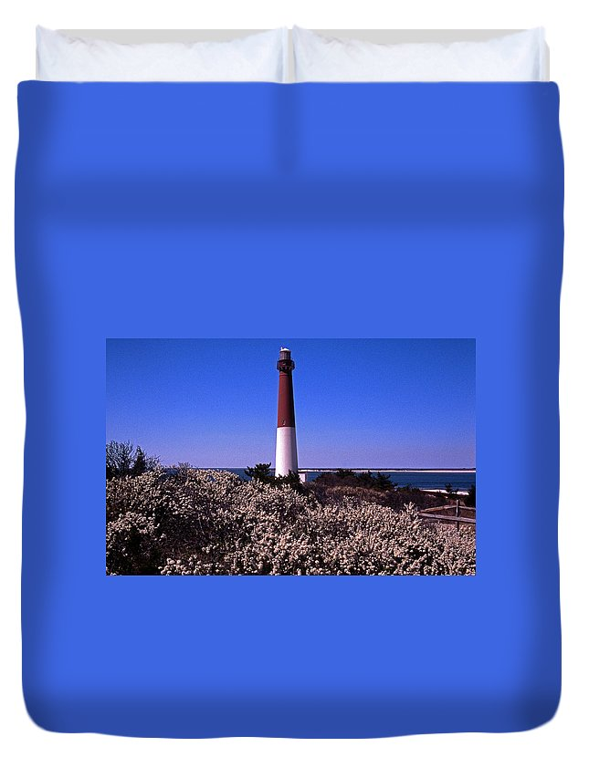 Nj Duvet Cover featuring the photograph Blooming Barnegat by Skip Willits