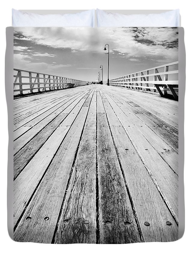 Abandoned Duvet Cover featuring the photograph Boardwalk Of Distance by Jorgo Photography - Wall Art Gallery