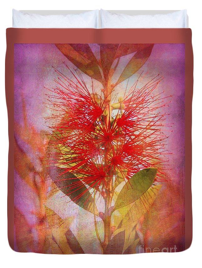 Bottlebrush Duvet Cover featuring the photograph Bottlebrush by Judi Bagwell