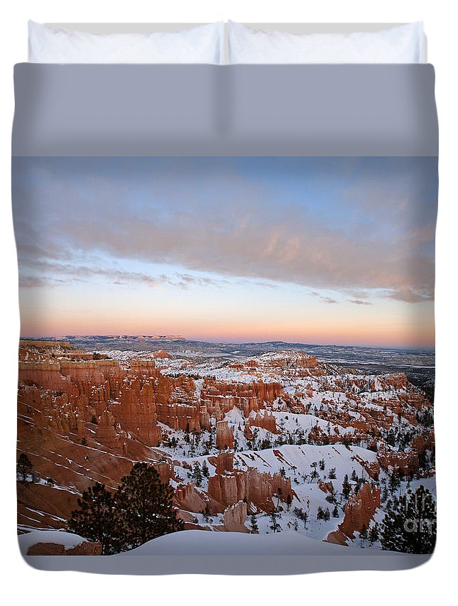 Bryce Canyon Duvet Cover featuring the photograph Bryce Canyon National Park Utah by Jason O Watson