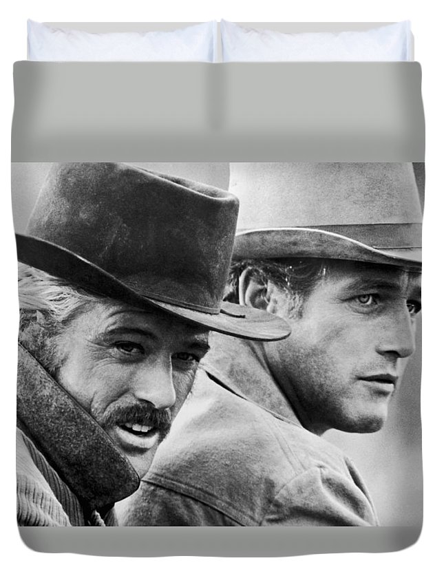 Paul Newman Duvet Cover featuring the photograph Butch Cassidy And The Sundance Kid by Georgia Fowler