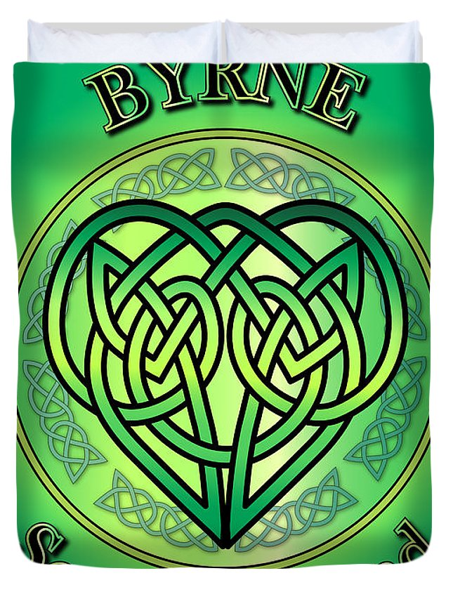 Byrne Duvet Cover featuring the digital art Byrne Soul Of Ireland by Ireland Calling