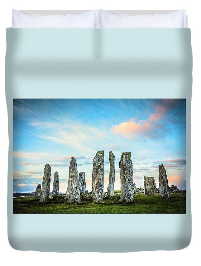 Prehistoric Era Duvet Cover featuring the photograph Callanish Standing Stones, Isle Of Lewis by Theasis