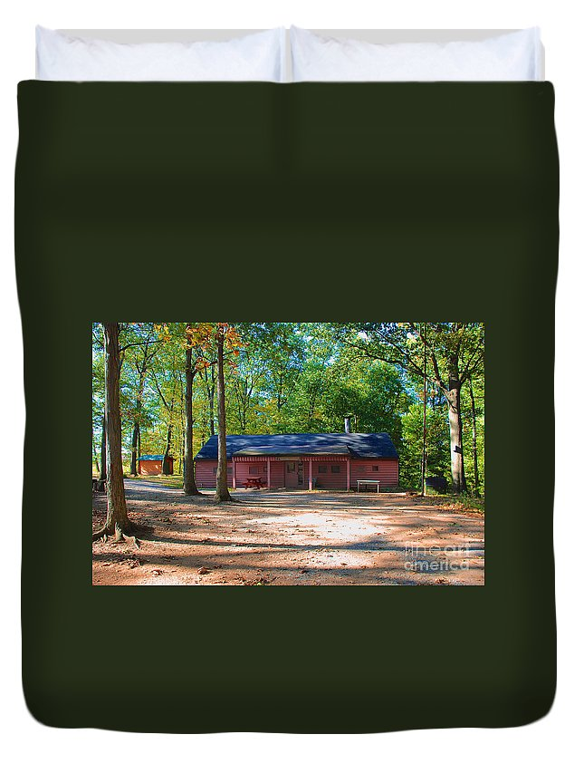 Camp Duvet Cover featuring the photograph Camp Milton by Mark Dodd