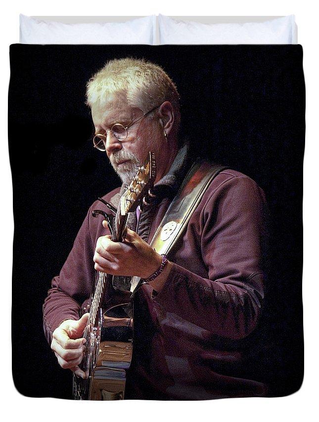 Art Duvet Cover featuring the photograph Canadian Folk Rocker Bruce Cockburn by Randall Nyhof