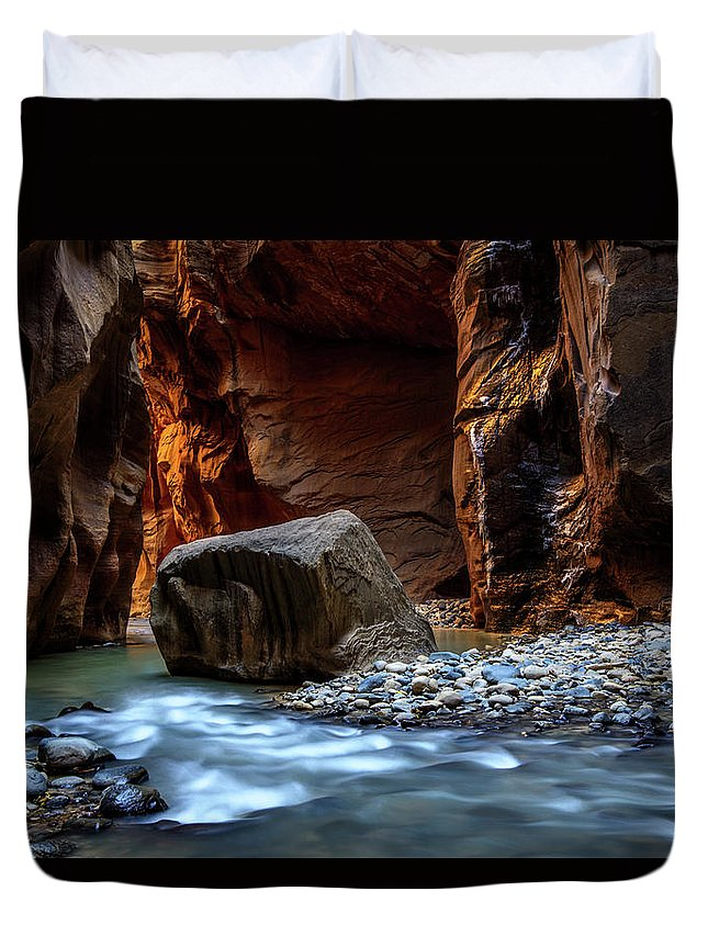 Scenics Duvet Cover featuring the photograph Canyon by Piriya Photography