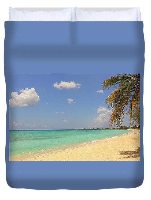 Scenics Duvet Cover featuring the photograph Caribbean Dream Beach by Shunyufan
