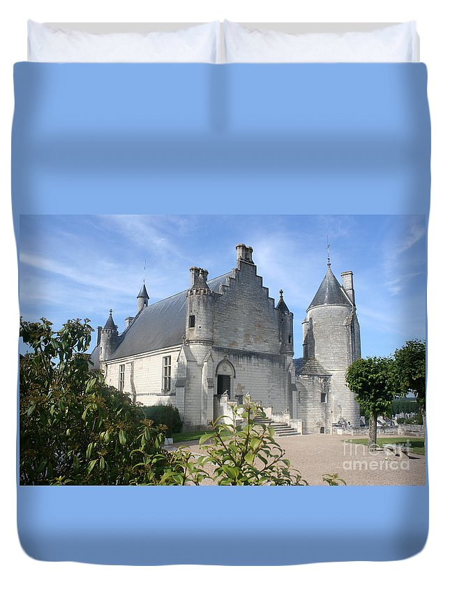 Castle Duvet Cover featuring the photograph Castle Loches - France by Christiane Schulze Art And Photography