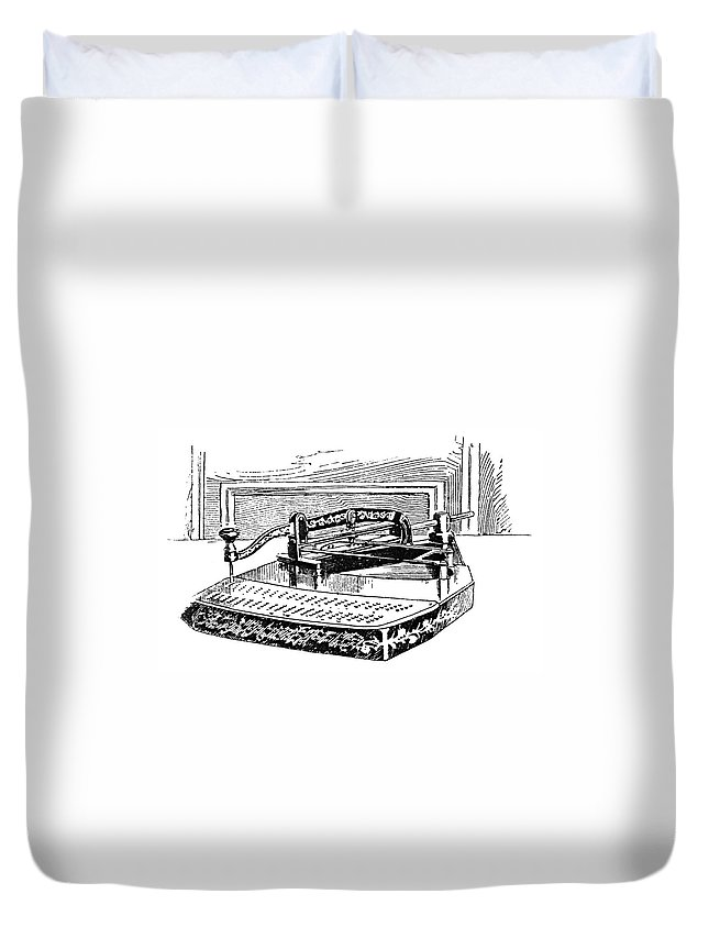 1890 Duvet Cover featuring the painting Census Machine, 1890 by Granger