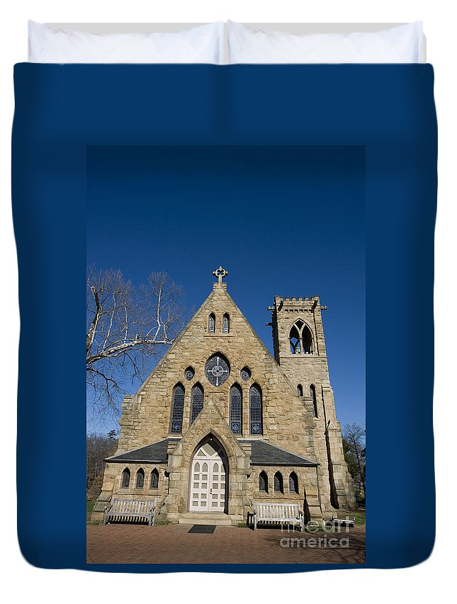 Chapel Duvet Cover featuring the photograph Chapel University Of Virginia by Jason O Watson