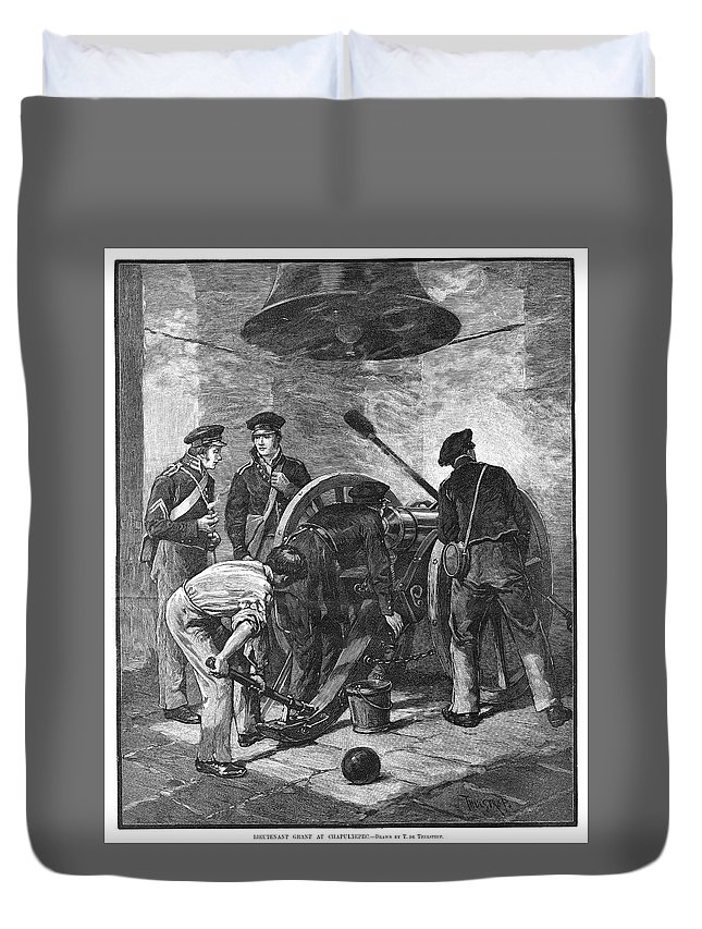 1847 Duvet Cover featuring the painting Chapultepec, 1847 by Granger