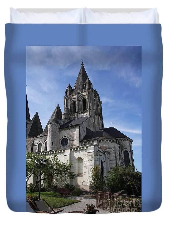 Church Duvet Cover featuring the photograph Church - Loches - France by Christiane Schulze Art And Photography