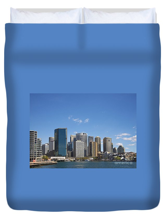 Architecture Duvet Cover featuring the photograph Circular Quay In Central Sydney Australia by Jacek Malipan