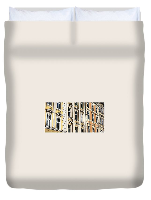 Windows Duvet Cover featuring the photograph City Windows by Steven Liveoak