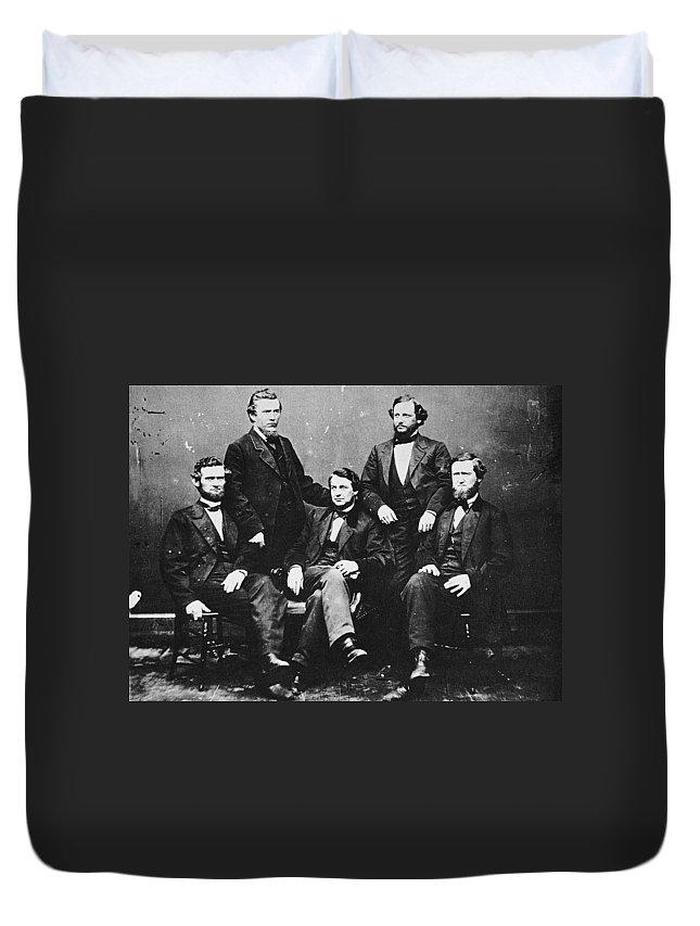 19th Century Duvet Cover featuring the photograph Clement Vallandigham (1820-1871) by Granger