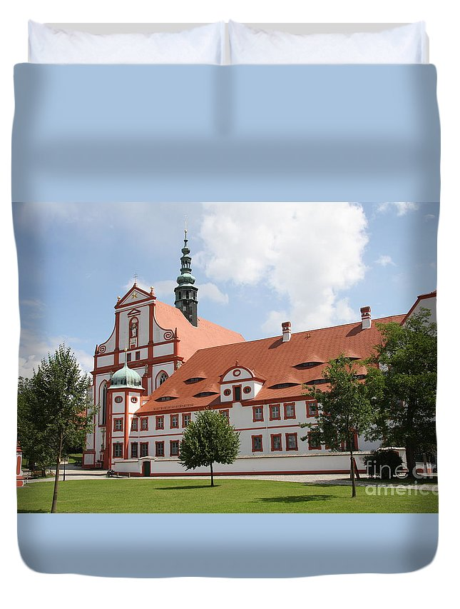 Cloister Duvet Cover featuring the photograph Cloister St. Marienstern by Christiane Schulze Art And Photography